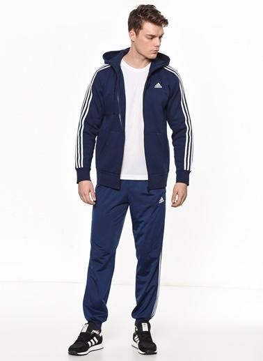 adidas Kapüşonlu Fermuarlı  Sweatshirt Lacivert